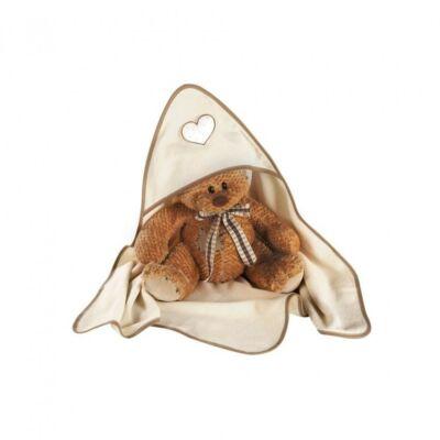 Albero Mio kapucnis kifogó - H136 I love You Maci fehér-bézs