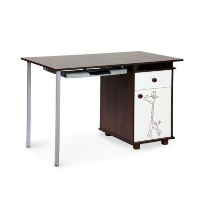 Klups Szafari-Zsiráf íróasztal - törtfehér-dió - ecru-orzech